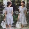 Lady Olivia Sweet Pastel Lace Mini Dress