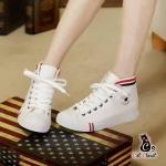 พร้อมส่ง รองเท้าผ้าใบสีขาว ไซร์ 37