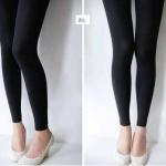 กางเกงเลคกิ้ง สีดำ