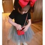 กระเป๋าแฟชั่น กระเป๋าสะพาย สำหรับเด็ก สีแดง