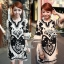 Lady Ribbon's Made Lady Anna Floral Printed and Black Crystal Embellished Cotton Silk Dress thumbnail 1