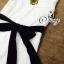 (ส่งฟรี EMS) Sevy Solid Off White Lace Maxi Dress With Velvet Ribbon thumbnail 8