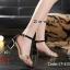 รองเท้าส้นสูงรัดส้น สูงประมาณ 2 นิ้ว วัสดุหนังเงาด้านแต่โลหะแวววาว thumbnail 2