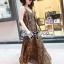 (ส่งฟรี EMS) Lady Ribbon's Made Lady Dita Sexy Leopard Printed Maxi Dress thumbnail 3