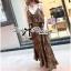 (ส่งฟรี EMS) Lady Ribbon's Made Lady Dita Sexy Leopard Printed Maxi Dress thumbnail 6