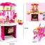 โต๊ะครัว mini kitchecn + shopping cart 2 in 1 อุปกรณ์ 56 ชิ้น ส่งฟรี สีชมพู thumbnail 1