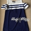 Lady Ribbon's Made Lady Isla Glam Chic Navy Blue Striped Dress thumbnail 4