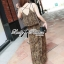 (ส่งฟรี EMS) Lady Ribbon's Made Lady Dita Sexy Leopard Printed Maxi Dress thumbnail 2