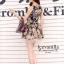 Sleeveless Chiffon pleated Dress printing style korea thumbnail 4