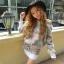 3D Rose Luxury Sweater & Mini Skirt Korean Style thumbnail 3