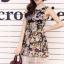 Sleeveless Chiffon pleated Dress printing style korea thumbnail 2