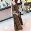 (ส่งฟรี EMS) Lady Ribbon's Made Lady Dita Sexy Leopard Printed Maxi Dress thumbnail 7