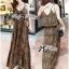 (ส่งฟรี EMS) Lady Ribbon's Made Lady Dita Sexy Leopard Printed Maxi Dress thumbnail 8