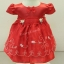 ชุดเสื้อผ้าเด็กเล็กผ้าไหมแก้วสีแดงสำหรับเด็ก6-24เดือน thumbnail 1