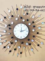 นาฬิกาแขวนติดผนัง รุ่นรัศมีพลอยใหญ่ขาวดำ T-meid