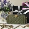 Chanel bag สีเขียว ด้านในสีชมพู งานHiend 1:1