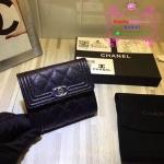 Chanel boy wallet สีดำ งาน Hiend Original
