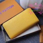 LV EPI zippy wallet new collection สีเหลือง งานHiend Original