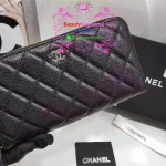 Chanel wallet zippy สีดำ งานHiend Original