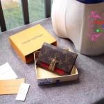 Louis vuitton Flower wallet สีแดง งานHiend Original