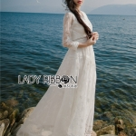 Lady Alison Sweet Casual Everyday Flower Embroidered White Cotton Dress