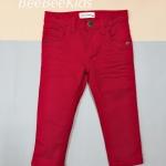 กางเกงยีน ขายาว สีแดง (S M L)
