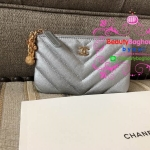 Chanel wallet chevron สีเงิน งานHiend Original