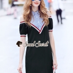 Veely Stripe Shirt Top Dress