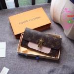 Louis vuitton Flower wallet สีชมพู งานHiend Original