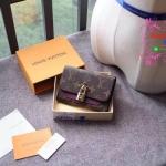 Louis vuitton Flower wallet สีม่วง งานHiend Original