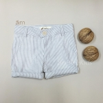 กางเกงสามส่วนเด็ก ริ้วเทา(S M L)