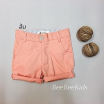 กางเกงสามส่วนเด็ก สีส้มอ่อน (S M L)