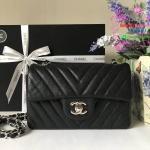 Chanel Classic Flap mini chevron สีดำ งานHiend Original