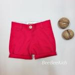 กางเกงสามส่วนเด็ก สีแดงสด(S M L)
