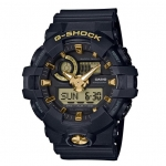 CASIO G-SHOCK Special Color GOLD in BLACK รุ่น GA-710B-1A9