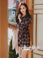 Dress Scott Red&Black Style Korea