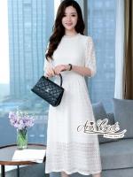 Aris Code White Lace Dress Maxi Sweet