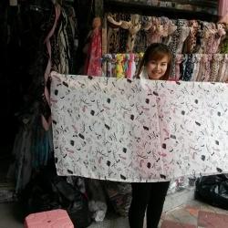 ผ้าชีฟองสไตล์เกาหลีผืนใหญ่