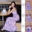 แมกซี่เดรส สีชมพูเข้มสวยงามมาก แต่งด้วยลูกไม้ thumbnail 4