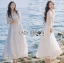 Lady Alison Sweet Casual Everyday Flower Embroidered White Cotton Dress thumbnail 2