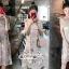 Mini Lace Dress Erin Off Shoulder Black&Cream Tulle Korea ครีมชมพู thumbnail 3