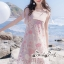 Mini Lace Dress Erin Off Shoulder Black&Cream Tulle Korea ครีมชมพู thumbnail 1