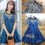 🎀 Lady Ribbon's Made 🎀Lady Anna Street Chic Striped T-Shirt with Denim Dress thumbnail 5