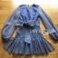 🎀 Lady Ribbon's Made 🎀 Lady Liz Striped Silk Cotton Ruffle Mini Dress with Big Ribbon thumbnail 7
