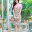 XL,3XL,5XL ชุดเดรสสาวอวบ++ผ้า Sanfox พื้นขาว ทอลายดอกชมพู จุดเด่นของชุดนี้ตัดต่อด้านบน และแขนด้วยผ้า Hanako สีชมพู thumbnail 1