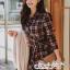 Dress Scott Red&Black Style Korea thumbnail 3