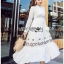 🎀 Lady Ribbon's Made 🎀 Lady Lauren Flower Embroidered White Cotton Maxi Dress thumbnail 1