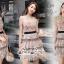 Mini Dress Ladies Flower Embroidery Korea Style thumbnail 2