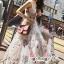 White Line Dress With Black Fancy Stripes ขาว thumbnail 2