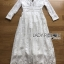 Lady Alison Sweet Casual Everyday Flower Embroidered White Cotton Dress thumbnail 8